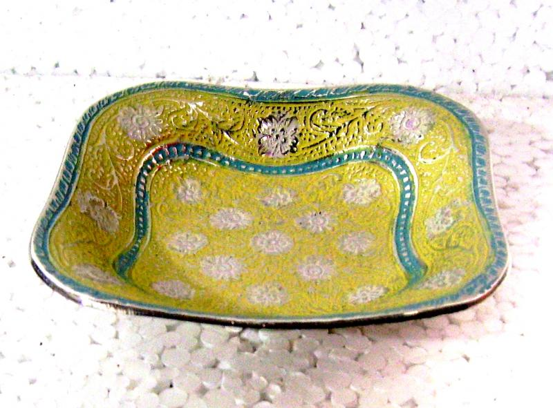 Brass Bowl Enamel Colour Nickle Plating